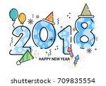happy new year vector...