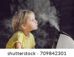 little baby looks at the... | Shutterstock . vector #709842301