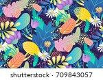 mood dance bouquet  | Shutterstock .eps vector #709843057