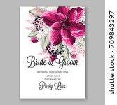 watercolor burgundy flowers for ... | Shutterstock .eps vector #709843297