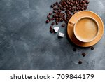 coffee composition with cup and ...   Shutterstock . vector #709844179