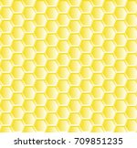 seamless pattern with bee...   Shutterstock .eps vector #709851235