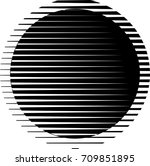 circle logo with lines.unusual... | Shutterstock .eps vector #709851895