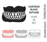 jaw icon cartoon. single...   Shutterstock .eps vector #709852924