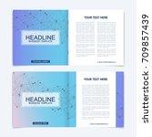 templates for square brochure.... | Shutterstock .eps vector #709857439