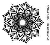 mandalas for coloring book.... | Shutterstock .eps vector #709859827