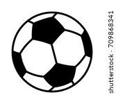 soccer ball or association... | Shutterstock .eps vector #709868341