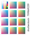 cmyk press color chart. vector... | Shutterstock .eps vector #709869259