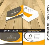creative business card mock up... | Shutterstock .eps vector #709875997