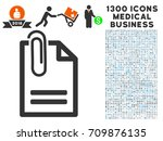 attached document grey vector...   Shutterstock .eps vector #709876135