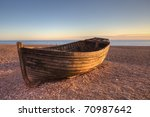 An Old Boat On Brighton Beach...