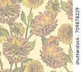 Dahlias Seamless Pattern....