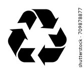 recycle sign on white background | Shutterstock .eps vector #709878877