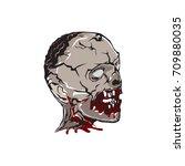 zombie head | Shutterstock .eps vector #709880035
