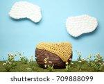 digital background of newborn... | Shutterstock . vector #709888099