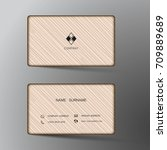 modern business card template... | Shutterstock .eps vector #709889689