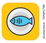 fish vector icon | Shutterstock .eps vector #709891789
