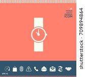wristwatch icon   Shutterstock .eps vector #709894864