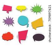 comics book background blank... | Shutterstock .eps vector #709897621