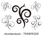 flora ornament set   ... | Shutterstock .eps vector #709899205