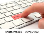 e learning concept   keyboard... | Shutterstock . vector #70989952