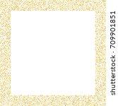 square golden sand frame or...   Shutterstock .eps vector #709901851