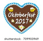 gingerbread heart with... | Shutterstock . vector #709903969