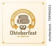 beer festival oktoberfest... | Shutterstock .eps vector #709904311