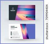 double sided horizontal... | Shutterstock .eps vector #709904404