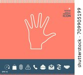 helping hand   line icon | Shutterstock .eps vector #709905199