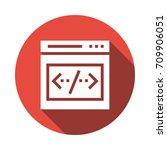 browser coding  | Shutterstock .eps vector #709906051