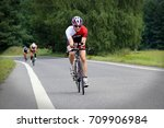 czech triathlete dan meszaros... | Shutterstock . vector #709906984