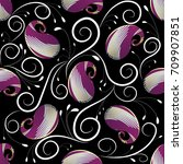 paisleys vector seamless... | Shutterstock .eps vector #709907851