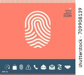 fingerprint. scanned finger icon | Shutterstock .eps vector #709908139