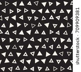 seamless primitive jumble... | Shutterstock .eps vector #709909381