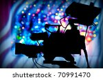 silhouette of a professional... | Shutterstock . vector #70991470