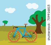 cycling road bike cartoon  in... | Shutterstock .eps vector #709916815