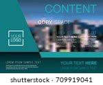 presentation layout design... | Shutterstock .eps vector #709919041