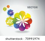 abstract flora background eps10 | Shutterstock .eps vector #70991974
