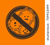 stop viruses and microbes sign. ...   Shutterstock .eps vector #709923499