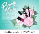 vector 3d cosmetic illustration ... | Shutterstock .eps vector #709923577