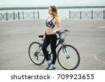 young seductive fitness woman... | Shutterstock . vector #709923655