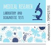 banner design with microscope...   Shutterstock .eps vector #709923751