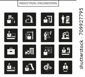 industrial engineering icons | Shutterstock .eps vector #709927795