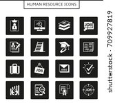 human resource and job icons | Shutterstock .eps vector #709927819