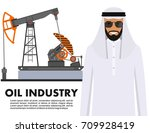 oil industry concept. detailed... | Shutterstock .eps vector #709928419
