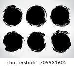 vector grunge circles.grunge...   Shutterstock .eps vector #709931605