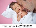 father with baby | Shutterstock . vector #709932379