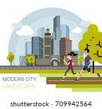 vector illustration of modern...   Shutterstock .eps vector #709942564