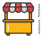 kiosk vector icon | Shutterstock .eps vector #709956364